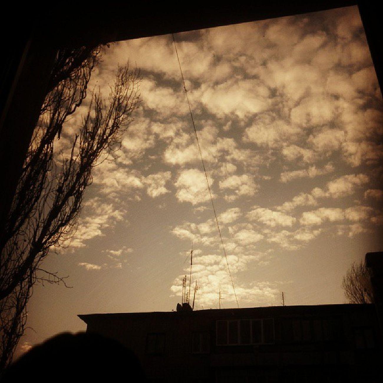 небо облака осень поворино autumm sky