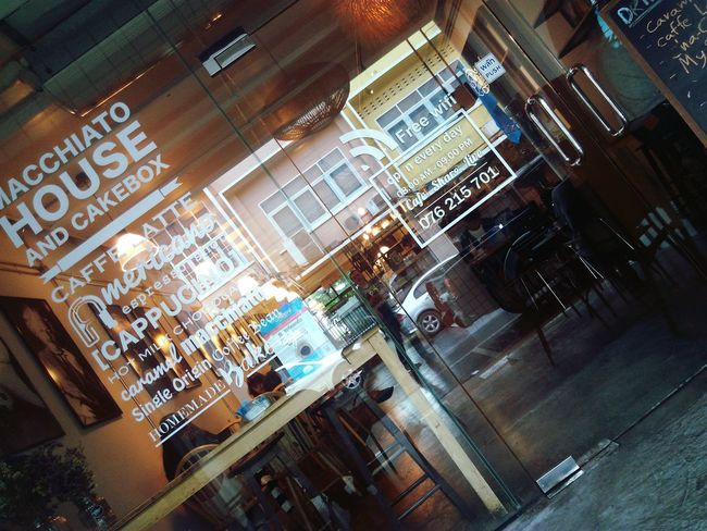 Street Cafe Phuketian Life Style One Of Cultural Rd. Macchiato House And Cakebox Coffee Shop Scene Slow Life 😊
