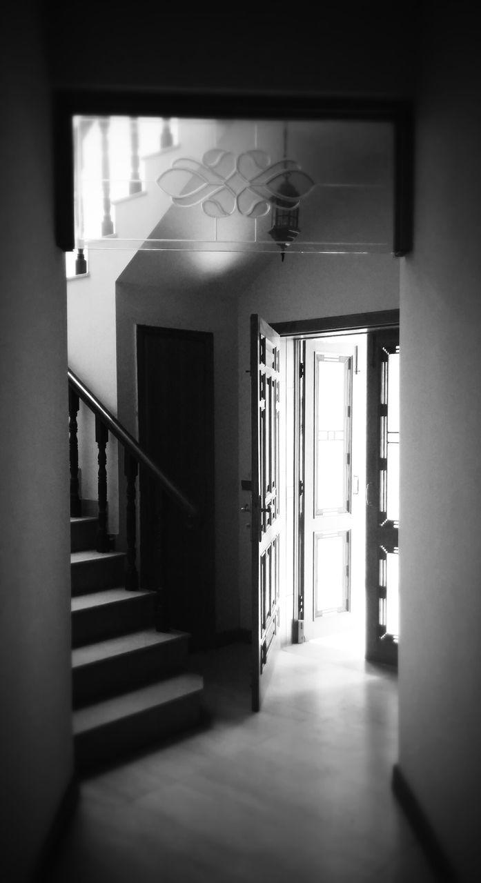 Doorway By Steps In House