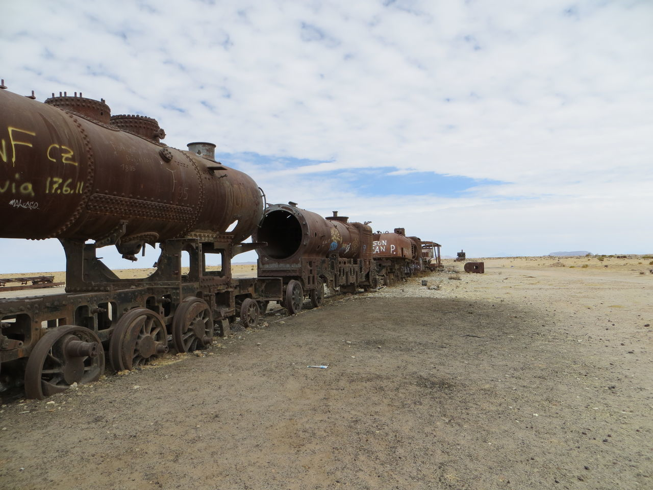 Abondened Abondened Places Ancient Civilization The KIOMI Collection Bolivia Bolivia Uyuni Car Culture Environmental Damage Factory Field History Industry International Landmark Land Vehicle Machinery Mode Of Transport No People Outdoors Pollution Smoke Structure Train Transportation Stones