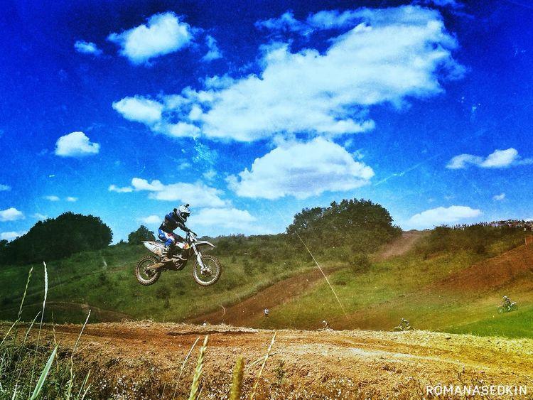Motocross Moto Sky Photography IPhoneography Romanasedkin EyeEmRussianTeam Russia Skopin Jamp!