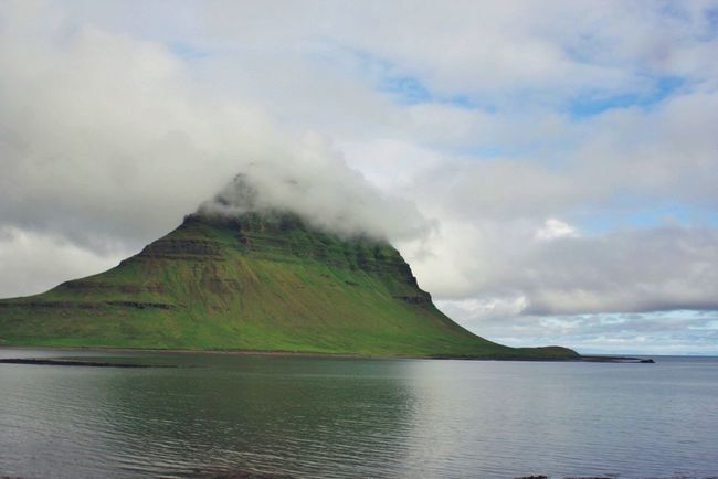 Water Mountain Beauty In Nature Tranquility Cloud - Sky Nature Traveling Travel Solitude Islande
