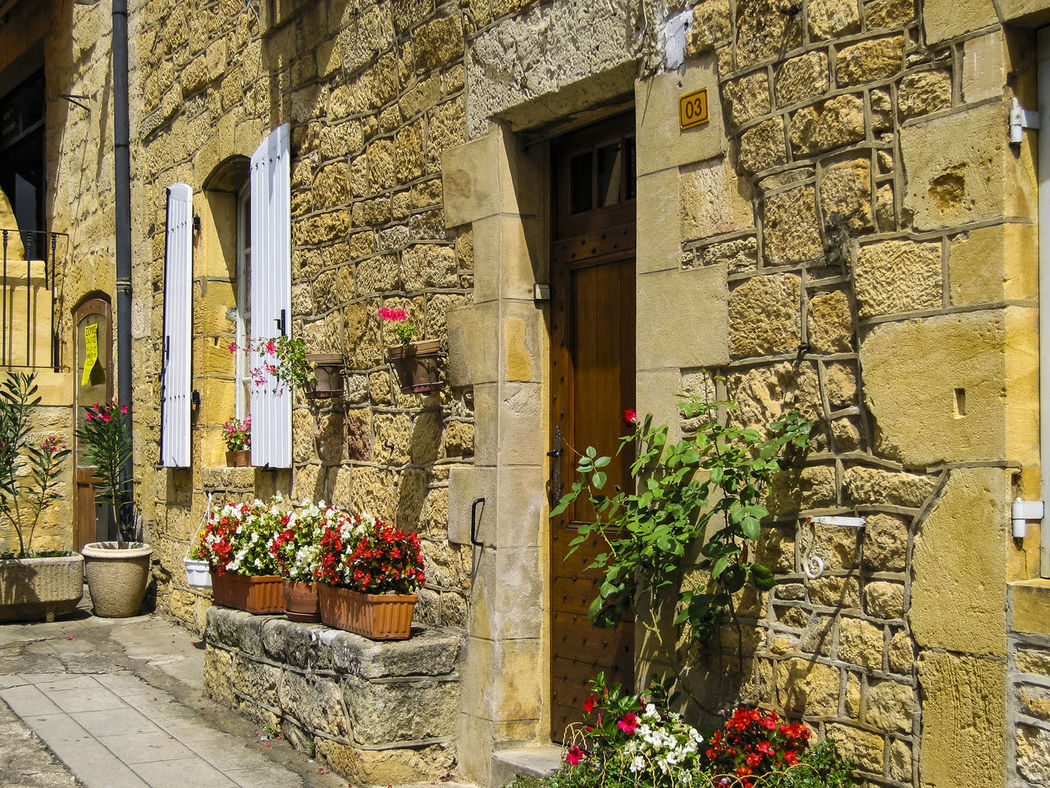 Old buildings in Domme, Sarlat-la-Canéda, Dordogne, Aquitaine, France Architecture Beauty In Nature Building Exterior Built Structure Day Domme Europe Façade Flower France Growth House Medieval Nature No People Old Outdoors Plant Potted Plant Sarlat-la-canéda Street Town Village Window Window Box