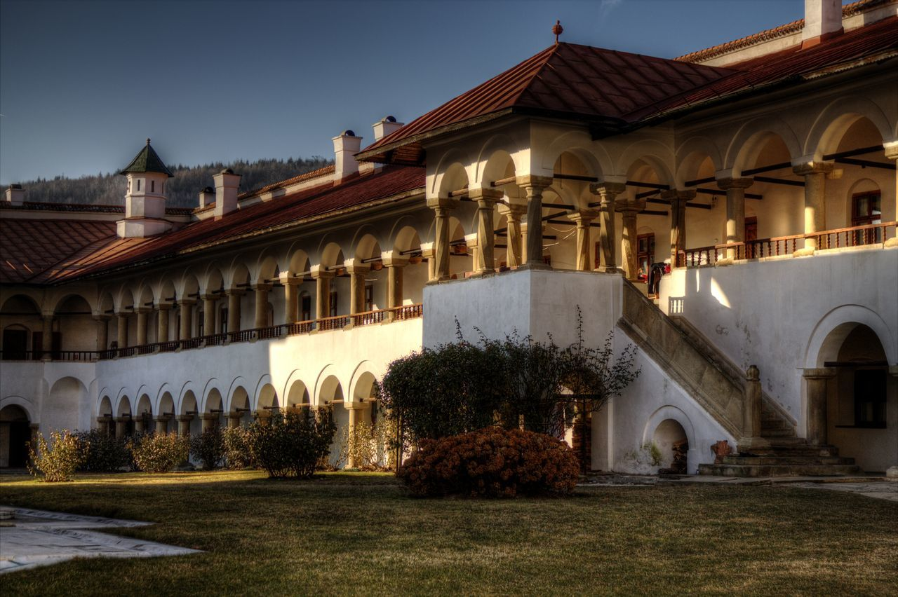 Architecture Building Exterior Built Structure Courtyard  Dark Sky Day Fort HDR HDR Collection Hdr Edit Hdr_Collection Hdr_lovers Hdrphotography Historical Building Historical Place Historical Sights History History Architecture Monastery Romania Royalty Sky Tradition Travel Destinations Travel Photography