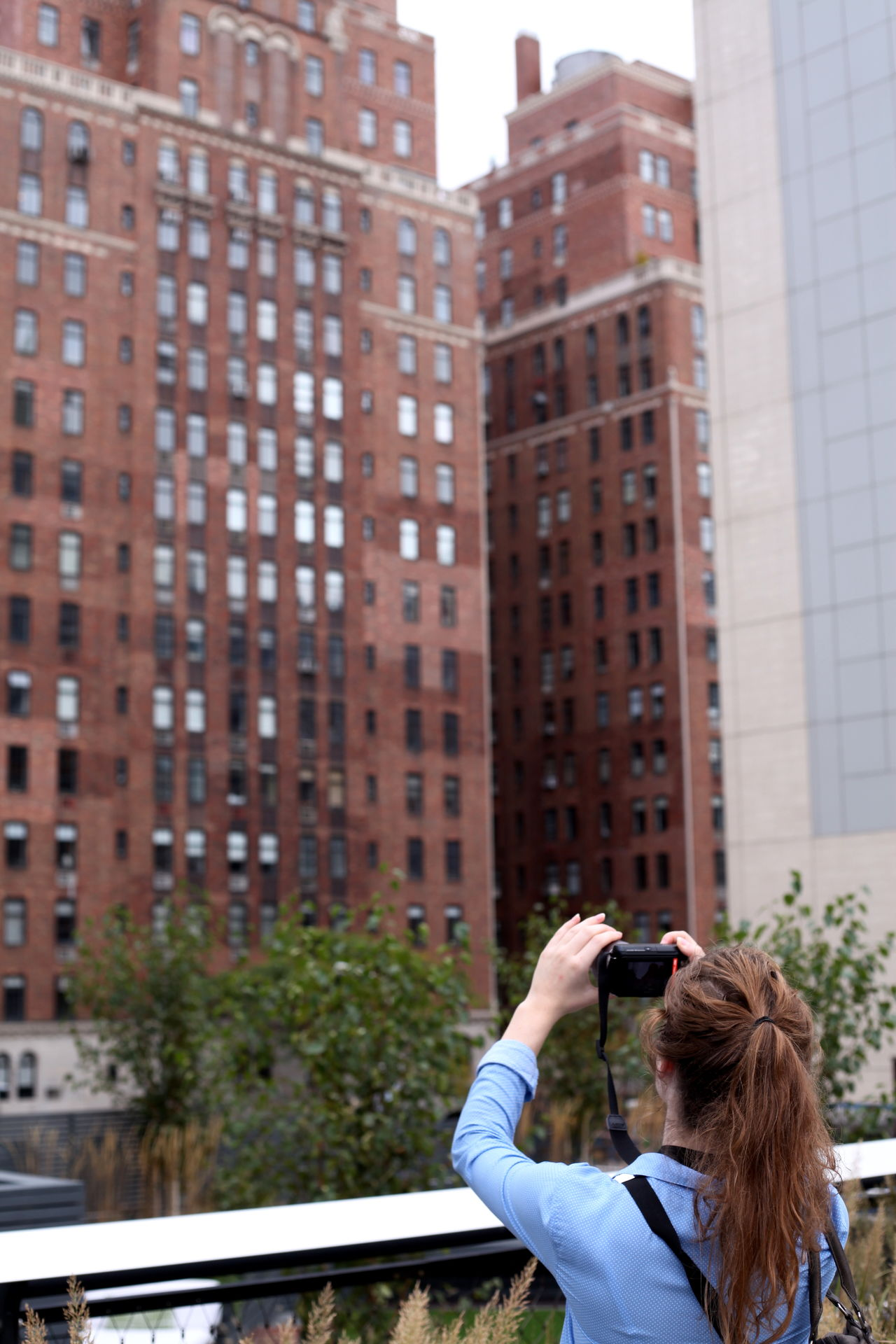 Adapted to the City Architecture building exterior built structure day Highline newyork newyorkcity photographing picture smart phone women