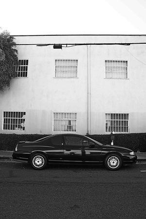 Chevy Black And White Urban Geometry Black & White
