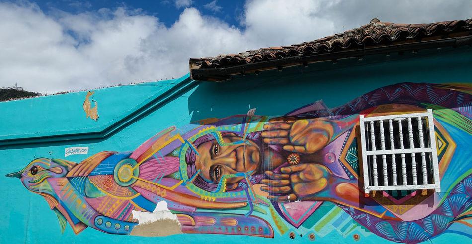 Art Bogotá Colombia Color Corn Graffiti Indians  Maiz Street Art