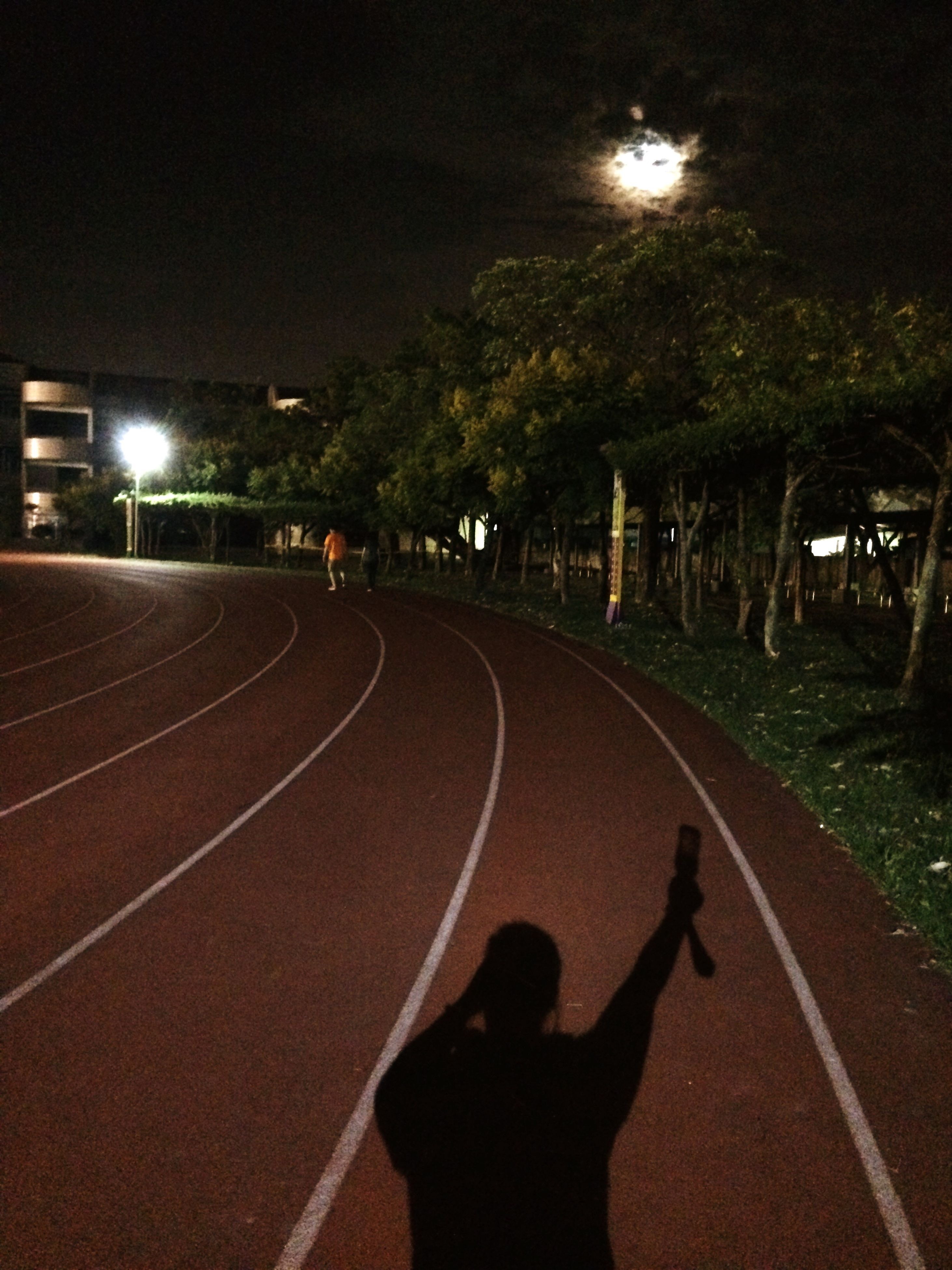 road, night, illuminated, transportation, street, outdoors, holding, solitude, the way forward, remote