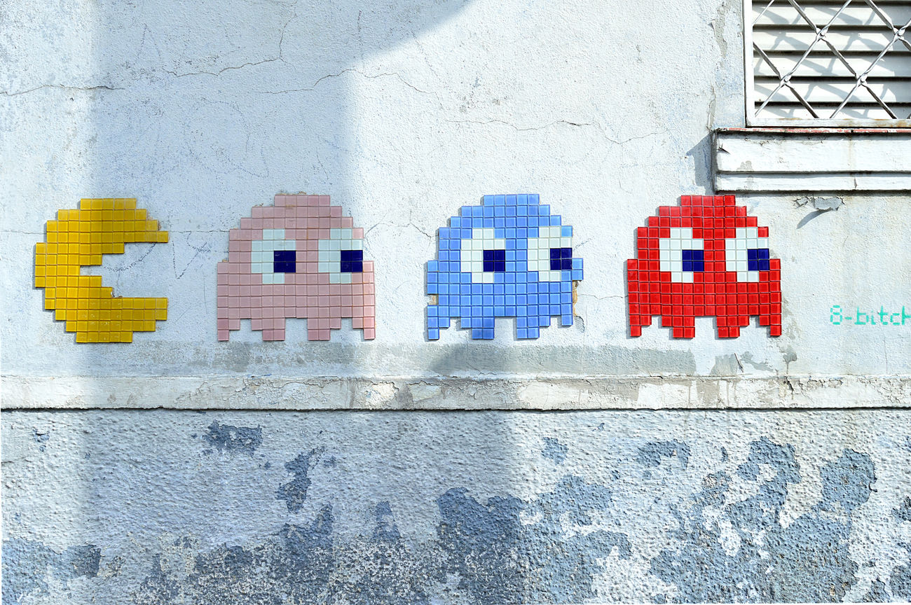 Pac Man... Architecture Building Exterior Funny Outdoors Pacman Street Art Streetphotography Wall