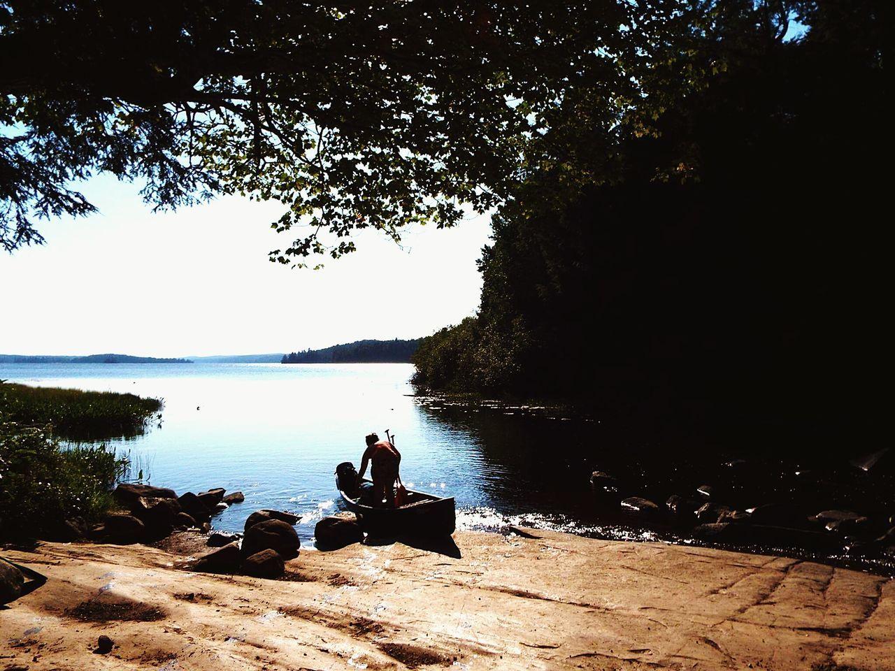 Canoeing Canoe Algonquinprovincialpark Algonquin Park Lake