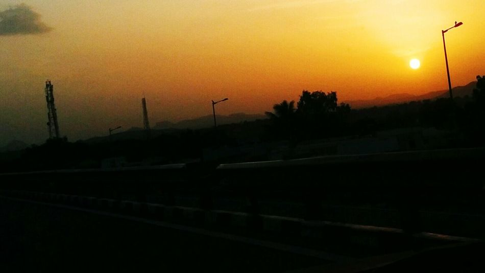 Sunset Transportation Silhouette Outdoors Countryside Nature Non-urban Scene Beauty In Nature Tranquil Scene Solitude Journey CruzerClickz📷 Cruze First Eyeem Photo
