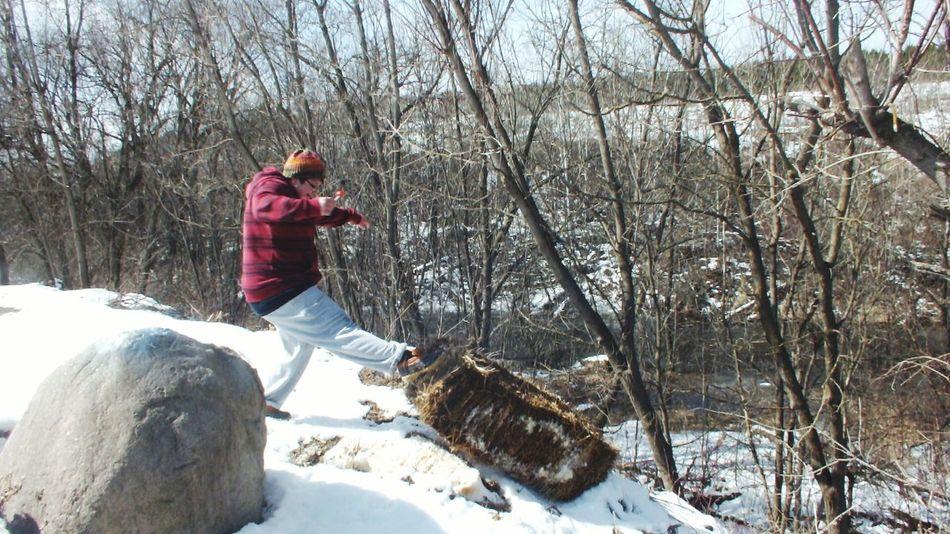 Kickin It Kick Kicker Kickinit Kicking Haybales  Hay Hillside Hilltop Hilltop View Hill Country Wintertime Winter Wonderland ❄ Winter Walks Winter Wonders Winter Woodland Winter Walk