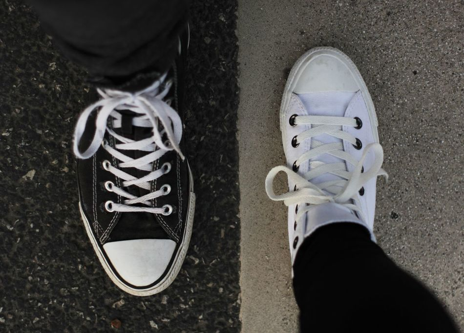 Beautiful stock photos of leinwand, Black Color, Canvas Shoe, Contrast, Day
