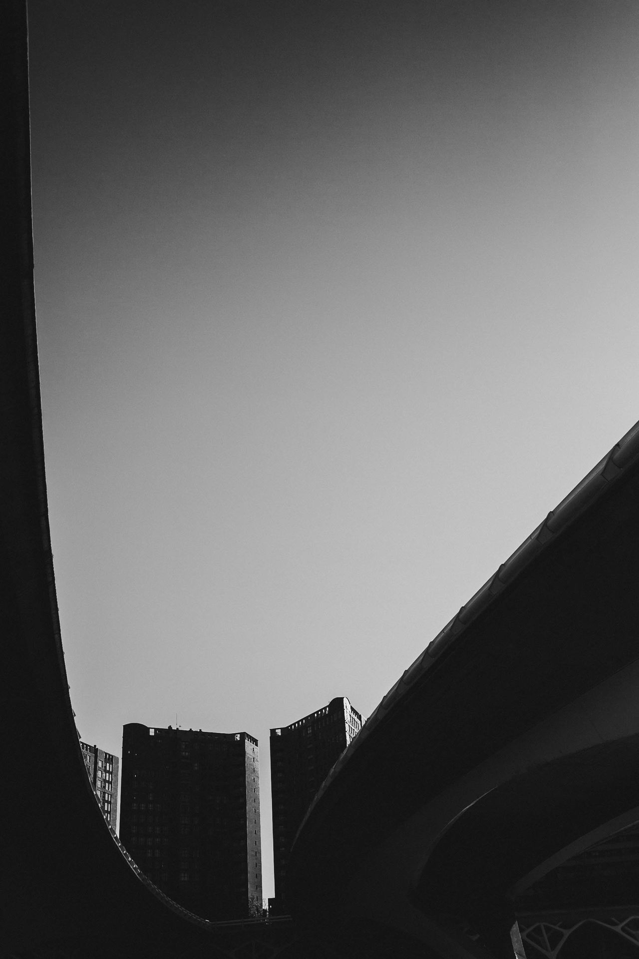 Architecture Black And White Building Exterior Built Structure City Clear Sky Copy Space Day Low Angle View Modern No People Outdoors Sky Valencia, Spain València