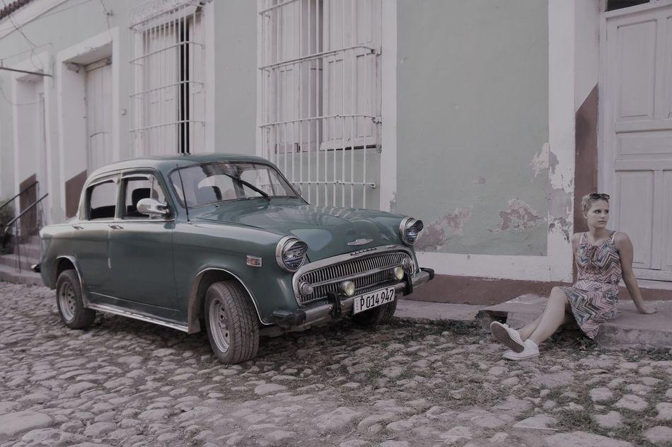 Car Cuba Lifestyle Oldtimer Outdoors People Stability Trinidad US Cars