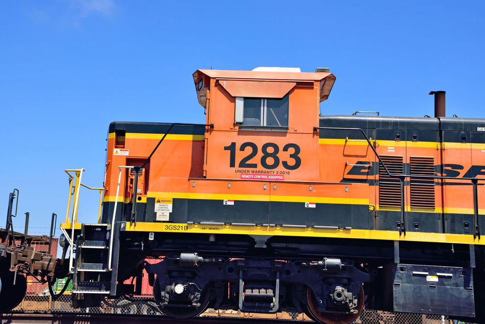 BNSF Locomotive 3 Railway Port Of Oakland, Ca. 2nd Largest Freight Railroad In North America Burlington Northern & Santa Fe Railway Merged 1996 To Form BNSF Railway Railroad Length Of Network: 32,500 Miles 28 States 3 Canadian Provinces 44,000 Employees 40 Ports 8,ooo Locomotives 1,600 Trains Per Day Transports Agricultural,consumer,industrial Products And Coal History Dates To 1849 Headquarters Ft.Worth Tx. Owner : Berkshire Hathaway Inc. Train_lovers Railroad _collection Railroad Photography Locomotive Paint Scheme : Heritage III Locomotive Engine Middle Harbor