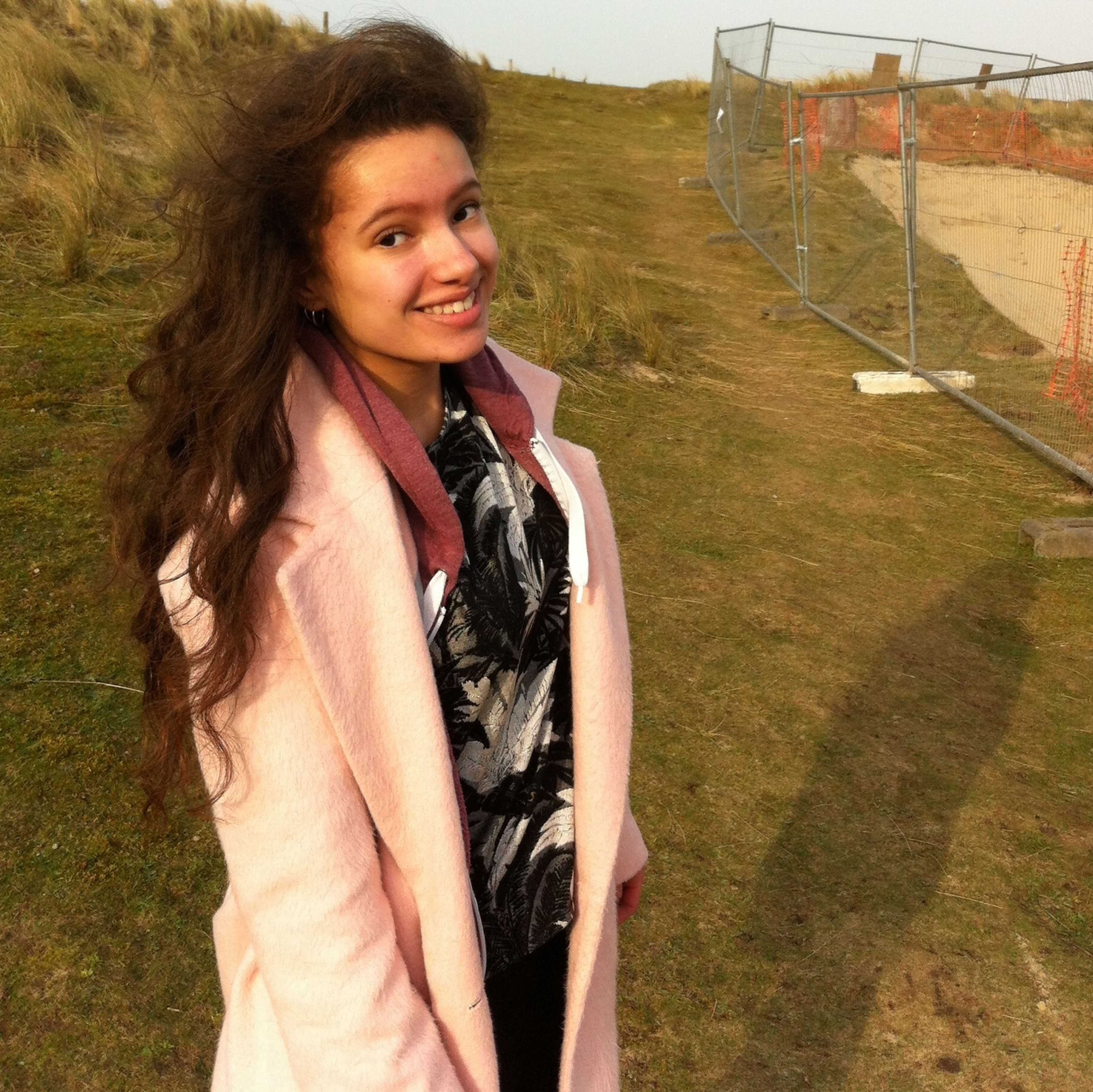 Wind swept hair whilst looking for the lost church which has been found so it isn't so lost... Adventure