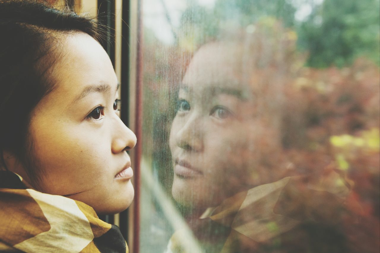 Beautiful Japanese Women Train Ride Traveling Autumn The Portraitist - 2015 EyeEm Awards