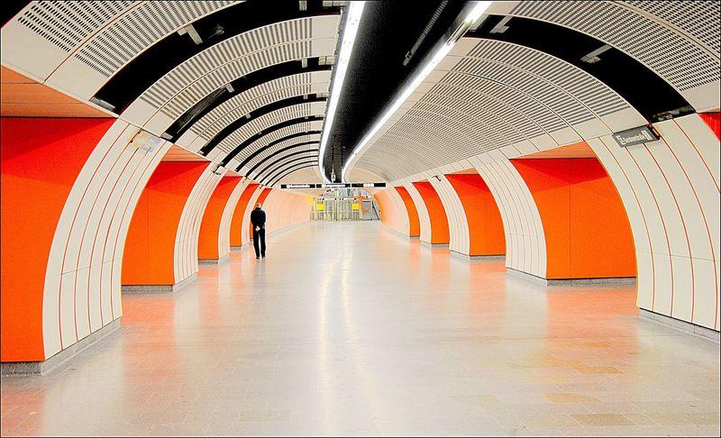 Viena, Austria Architecture Orange Color Indoors  Metro