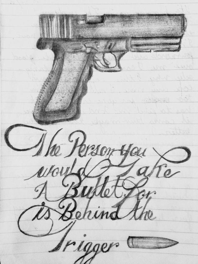 Old sketch I should really start drawing more :/ Serial Doodler Fall Out Boy Lyrics Drawing Art Sketch Gun