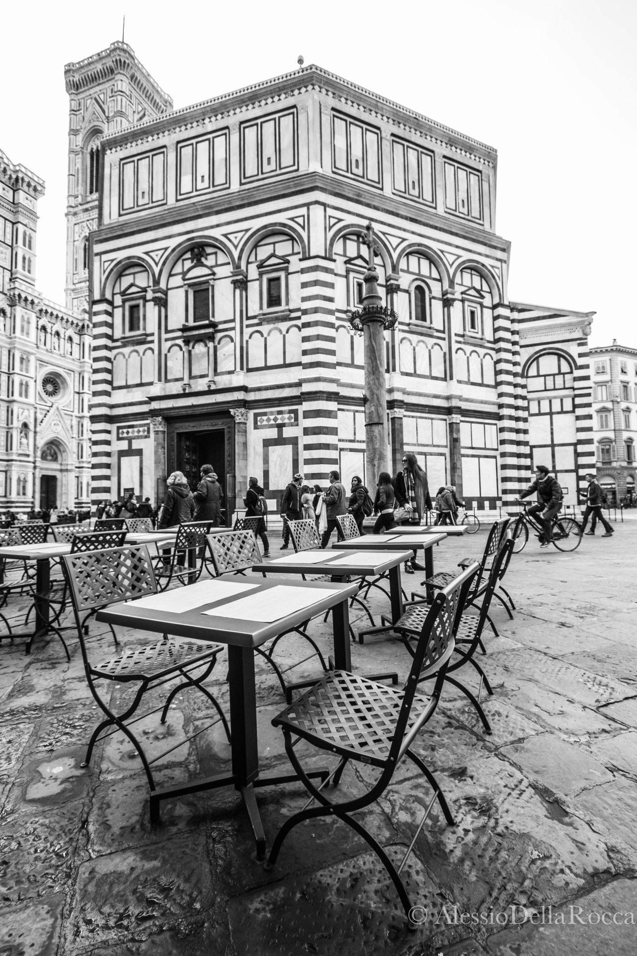 Architecture Battistero Di Firenze Battisterodisangiovanni Blackandwhite Building Exterior City Contrast Florence Florence Italy Streetphotography Table Tables And Chairs