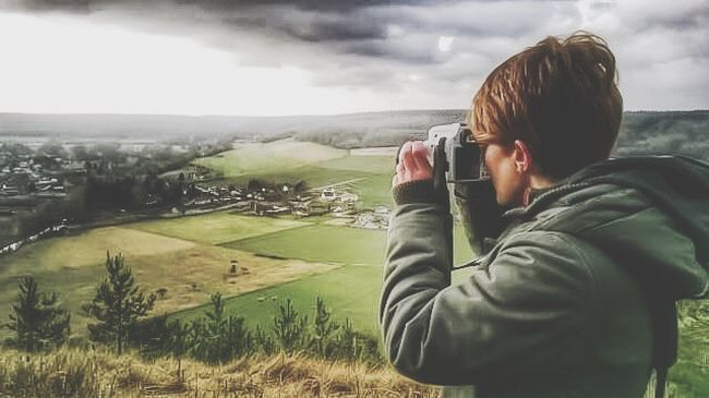 People And Places Photographing Cloud - Sky Landscape Rear View Sky Beauty In Nature