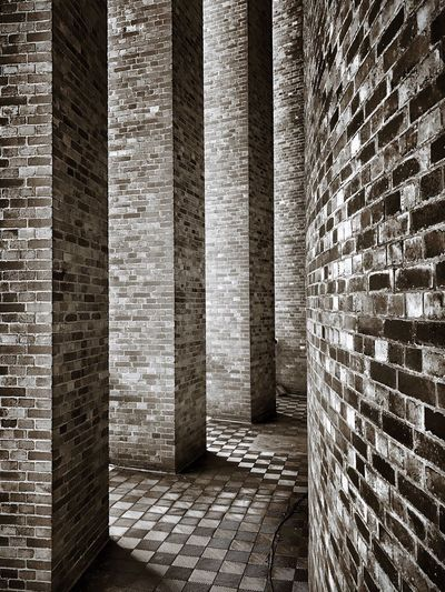 Brick Wall Architecture No People Day Planetarium Column Columns Hamburg Stadtpark Blackandwhite Black & White