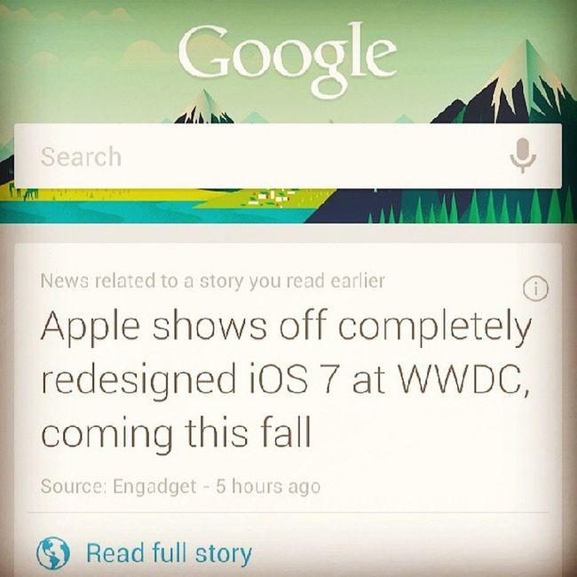 Apple Google WWDC Instapic instadaily instagood instacool instagrammer googlenow like love ios7