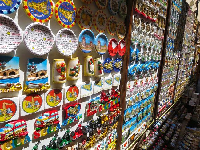 Colour Colour Of Life Colourful Colours Erice Gift Shop Pattern Repetition Sicily Souvenir Souvenirs Trinacria