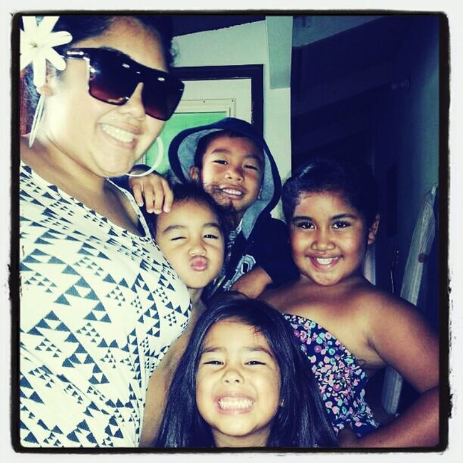 Me And The Keikis!!! Love These Buggahz Even Though They Are Haad Head!!! ;)
