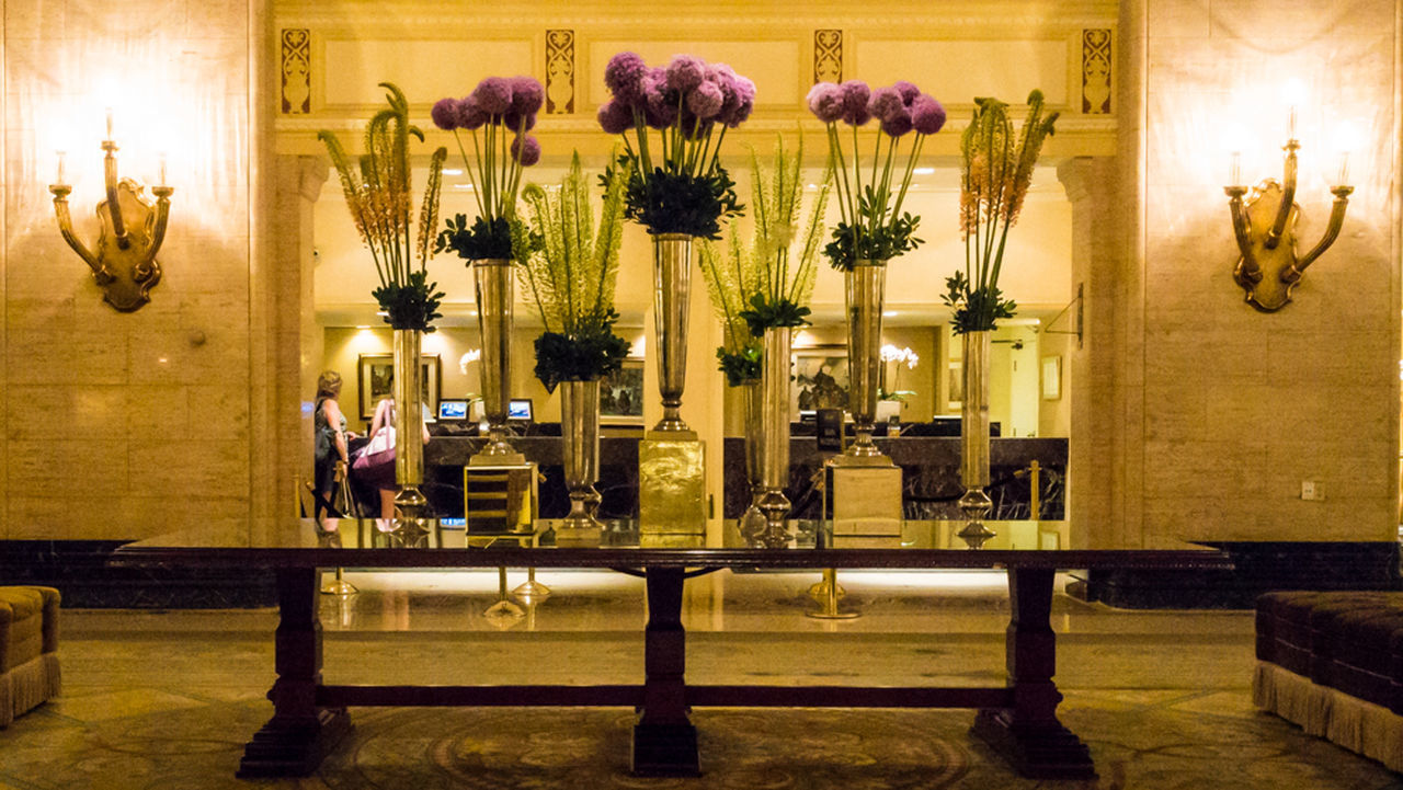indoors, illuminated, luxury hotel, luxury, candle, flower, vase, home interior, elegance, wealth, no people, altar, health spa, architecture, day