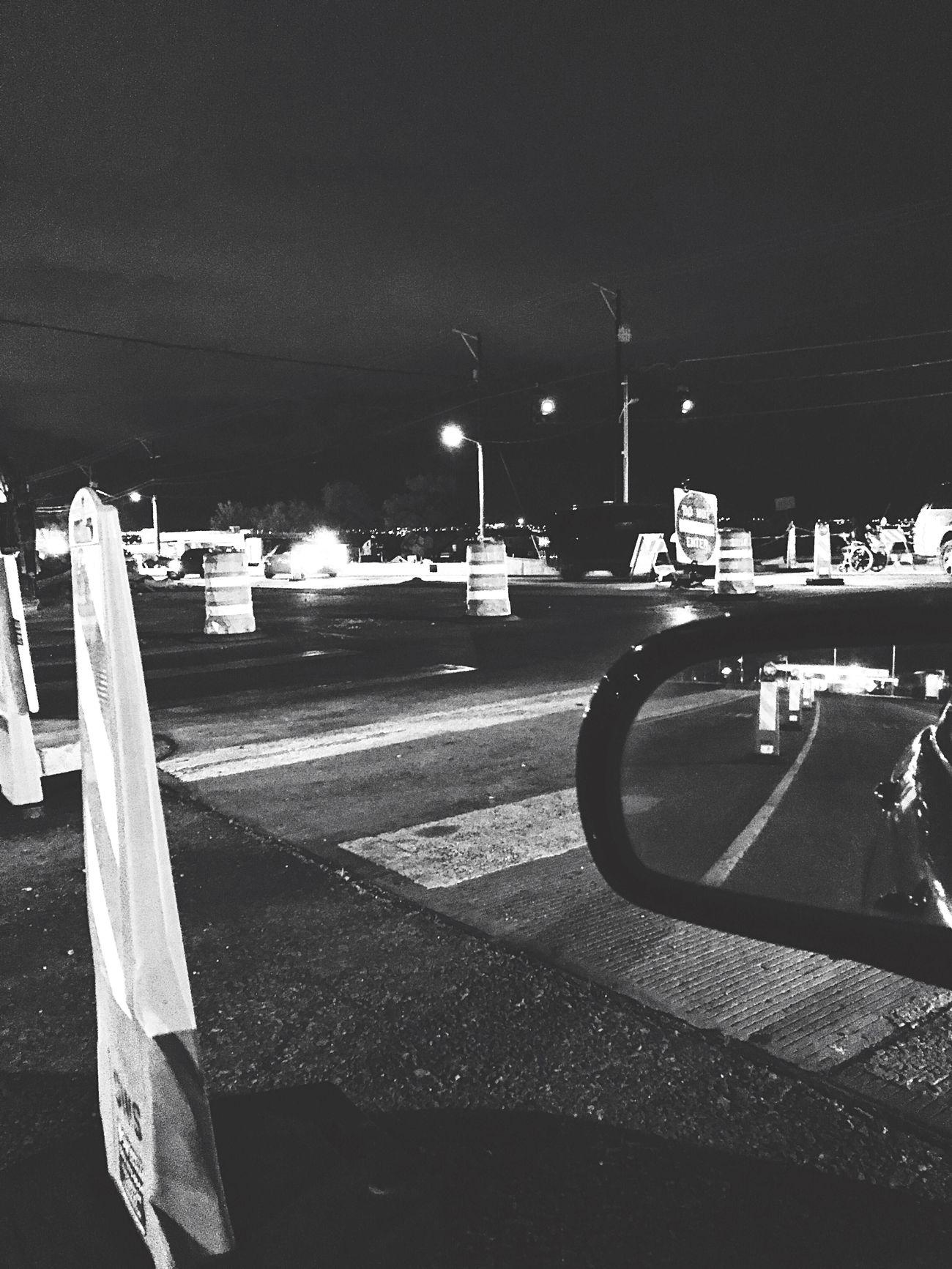 endless orange | under construction Night Road Transportation Outdoors Street