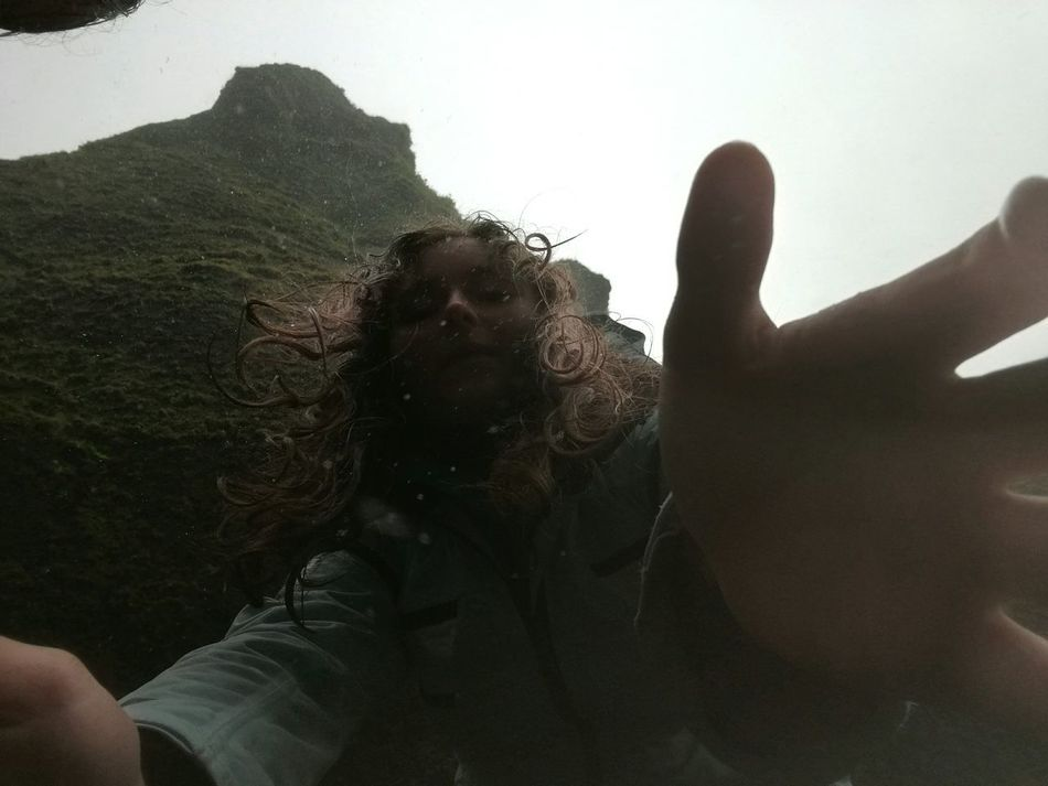 I think this looks really cool , it was taken by mistake ... Mistake Rain Rainy Days Myself Nature Nature_collection Photography Photo Fail Fail Iceland Cold Wet Hands Hand Wet Hair