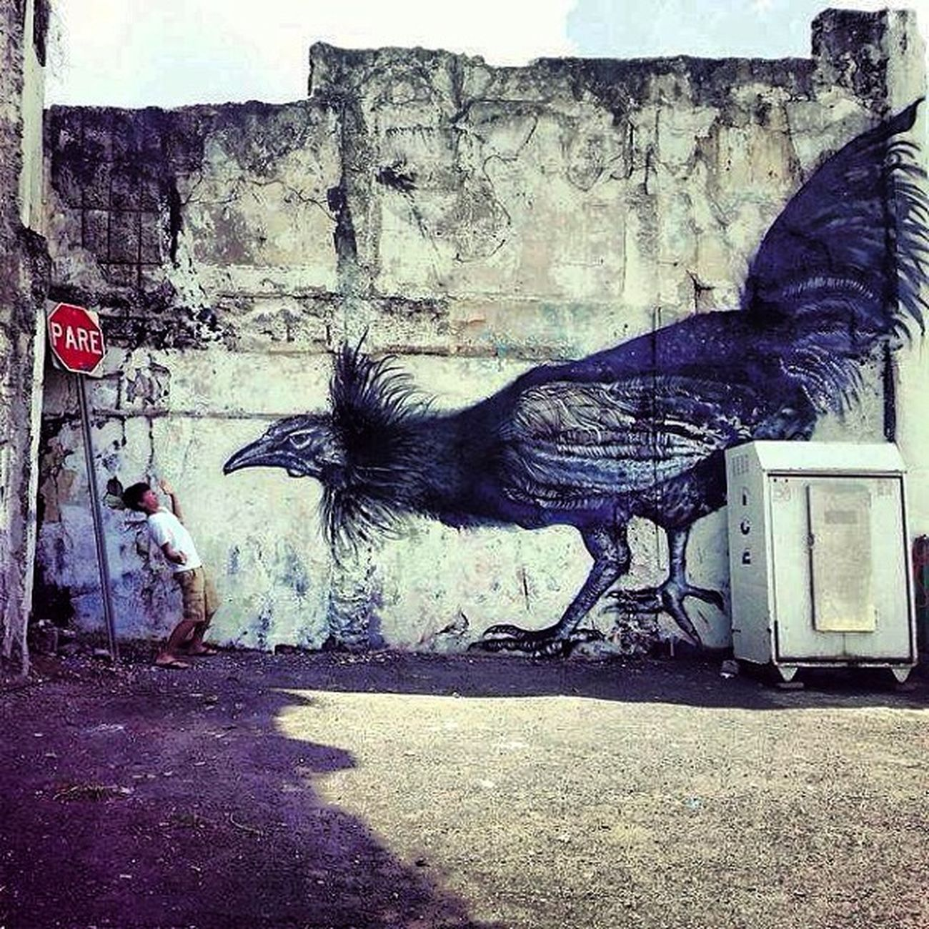 Street Art Streetart Art Gravity Graffiti cool cium instadonesia iphonesia paint