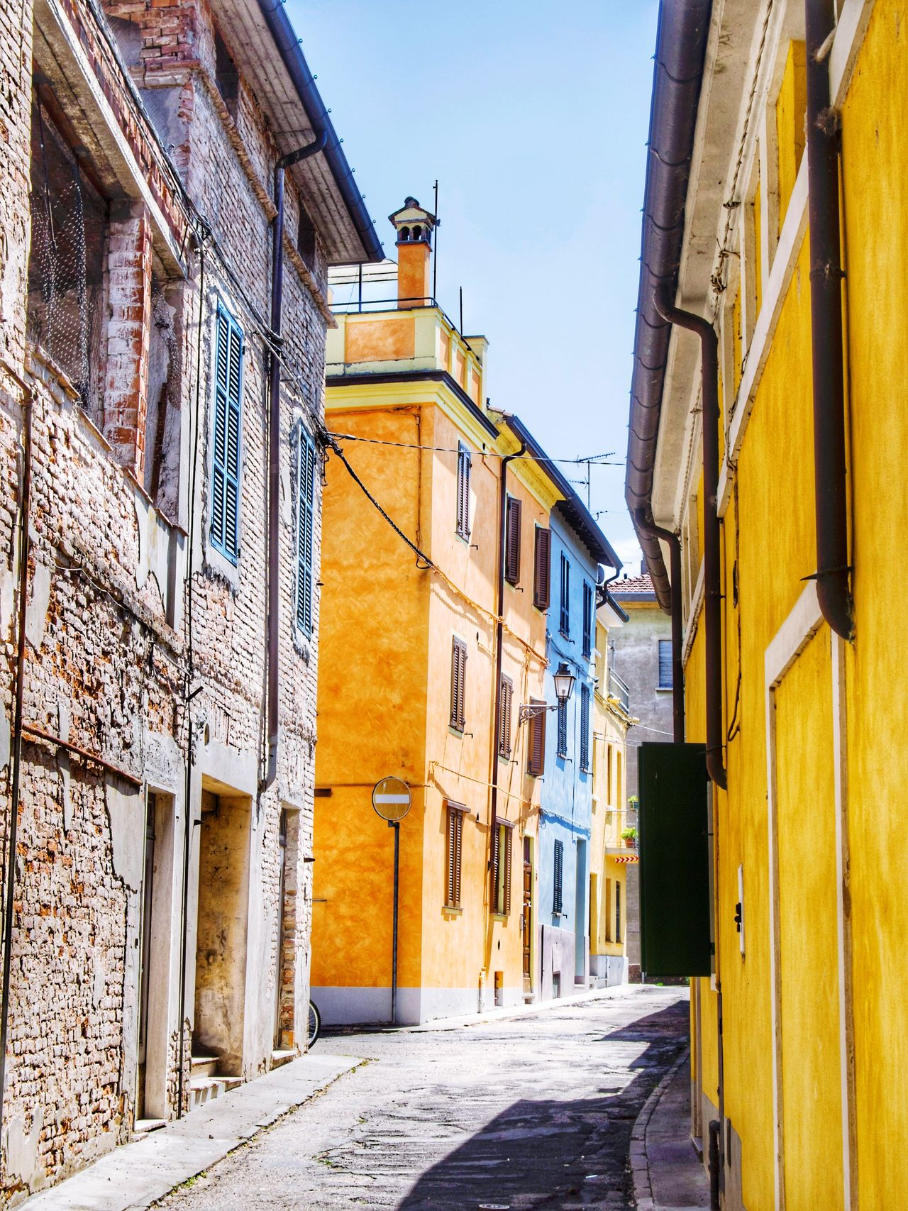Old houses Architecture Building Exterior Built Structure Outdoors Day No People The Way Forward Sky City Busseto Parma Italy