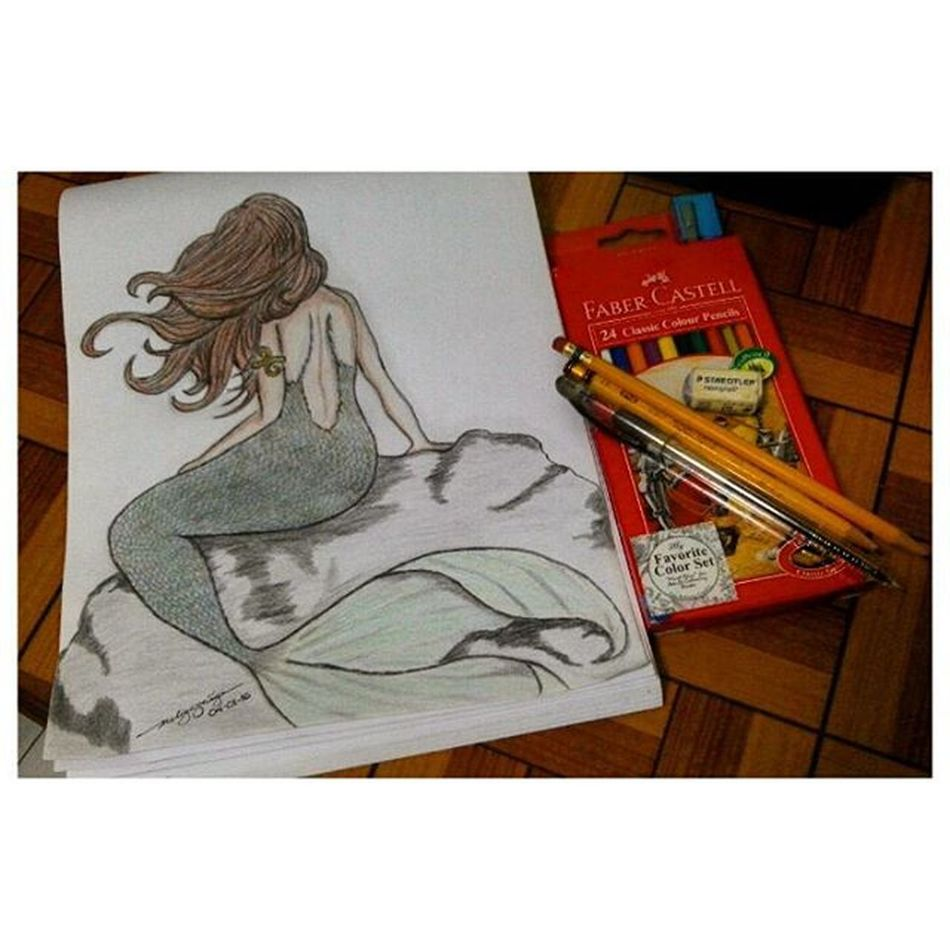 """""""I must be a mermaid. I have no fear of depth and a great fear of shallow living."""" - Anias Nin Time to draw. Because it's the first of the month once again. ☺ Sketches Woman Ibelongtothesea LoveForWater FascinationWithMermaid DrawingNiMel KaARTehanNiMel"""