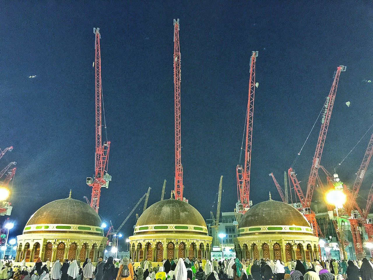The Architect - 2016 EyeEm Awards Mosque Pray Islamic Architecture Islam Masjid Al-Haram المسجد الحرام Mecca Crane Contructionwork People