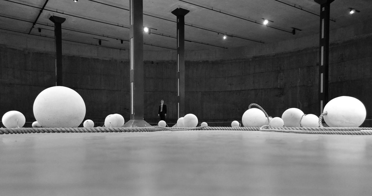 Balls ⁞ Break The Mold TCPM Indoors  One Person Eyeem Collection London Nikon Building Interior Inside Blackandwhite Black & White EyeEm Best Shots - Black + White Blackandwhite Photography Black&white Blackandwhitephotography EyeEm Gallery AMPt_community EyeEm_crew Point Of View Art Installation TateModern Art Is Everywhere