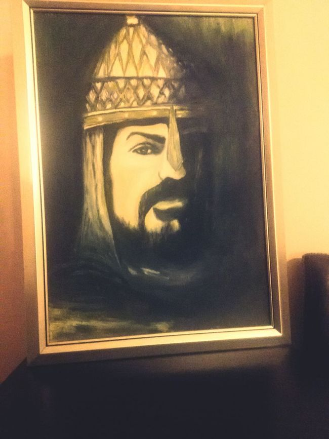 Portrait Alparslan Leader History Historical Paint