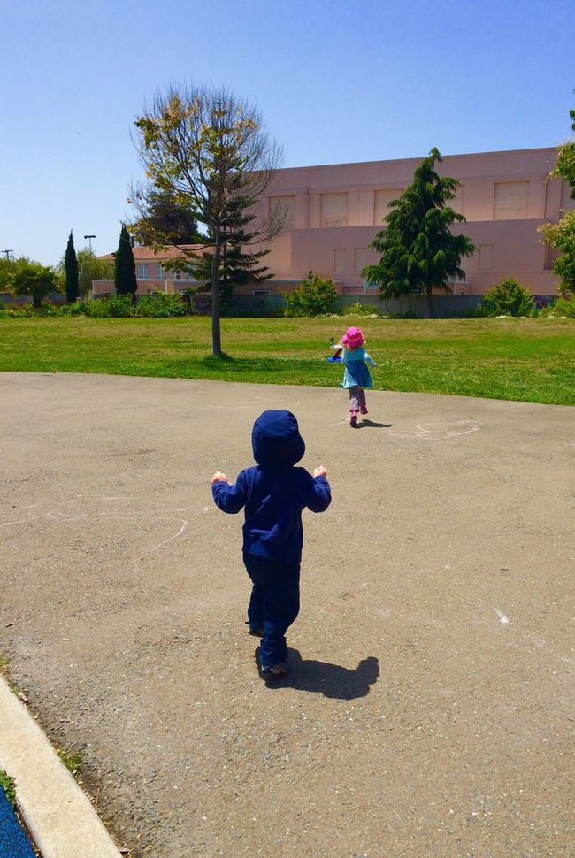 """Park play"" ""no electronic toys needed"" Urban Exploration Urban Landscape Parks Children Running City Life Childs Play Neighborhood Fun Neighborhood Park City Park"