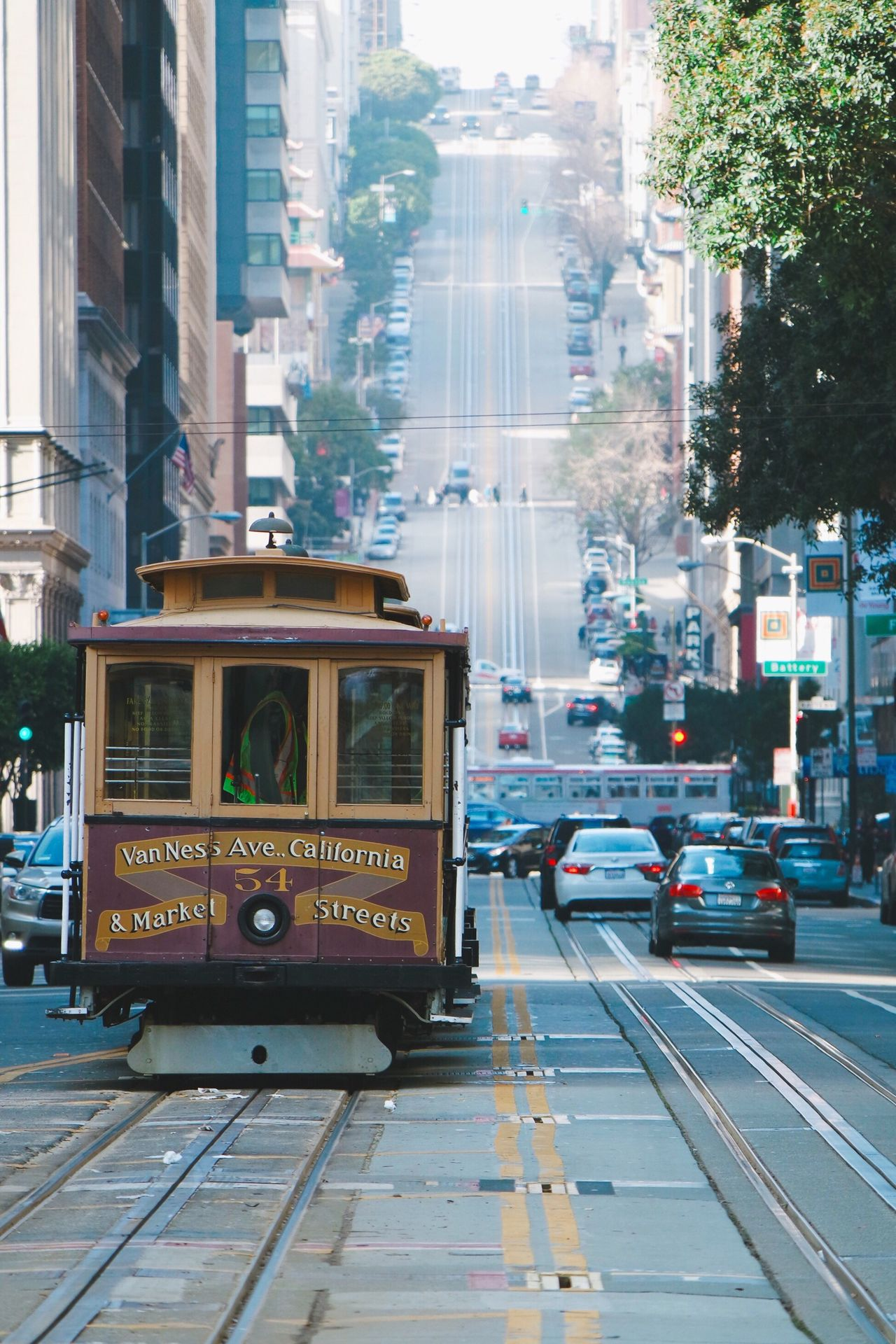 Art Is Everywhere City Life San Francisco Cable Car Architecture Travel Street Traffic