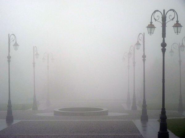 Empty Farol Farola Fog Foggy Foggy Day Foggy Morning Foggy Weather Nature Niebla No People Oropa Streetlights Travel Destinations Weather