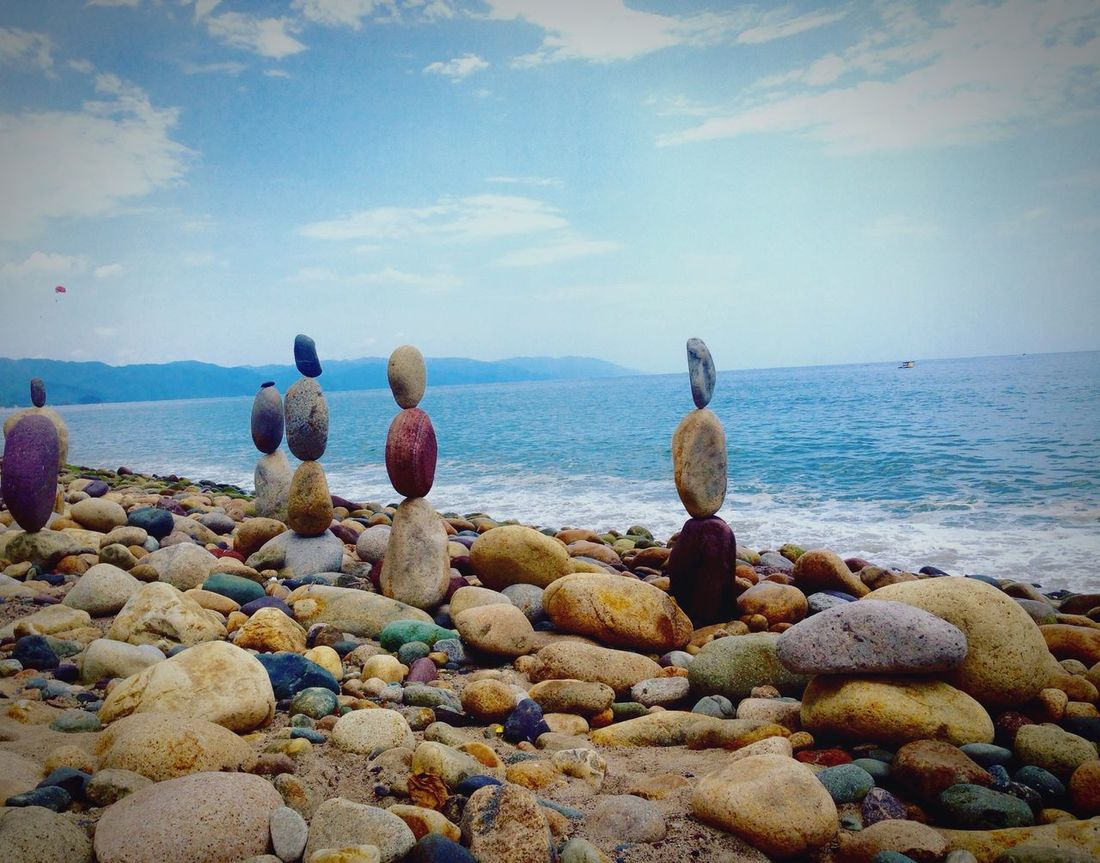 Water Sea Sky Nature Beauty In Nature Horizon Over Water Beach Scenics Pebble Shore Pebble Beach Tranquility Animal Themes Outdoors Day No People