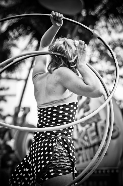 Beauty Standing Beautiful People One Woman Only Females Adults Only Women Adult Only Women One Person Beautiful Woman Outdoors People Young Adult Day Haute Couture Busker Buskersfestival Hoola Hoop Polkadots Blackandwhite Black & White Blackandwhite Photography Bokeh The Street Photographer - 2017 EyeEm Awards