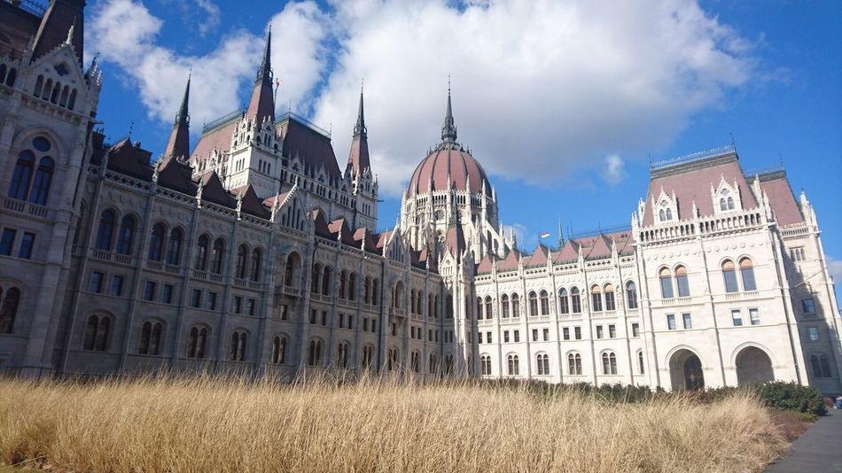 Politics And Government Government Architecture Building Exterior Sky Outdoors No People Budapest, Hungary Parlament Of Hungary Travel Destinations City Cloud - Sky Politics Dome Cultures Day Orszaghaz