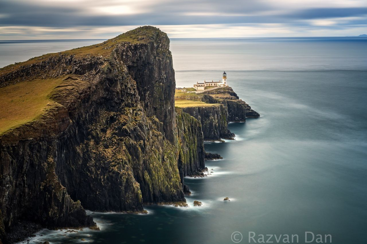 Neist Point, Isle of Skye, Scotland Sea Horizon Over Water Rock Formation Scenics Beauty In Nature Tranquility Tranquil Scene Cliff Sky Outdoors No People Rock - Object Water Nature Scottish Highlands Scotland Skye Island Seascape Nature Landscape Landscape_photography