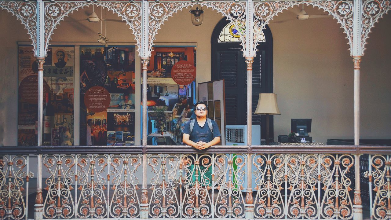 by the corridor, you and i. Blue Mansion Georgetown Penang Looking At Camera Penang Adult Architecture Balcony Beautiful Woman Building Exterior Built Structure Day Full Length Lifestyles Malaysia One Person Outdoors People Railing Real People Solo Standing Window Women Young Adult Young Women