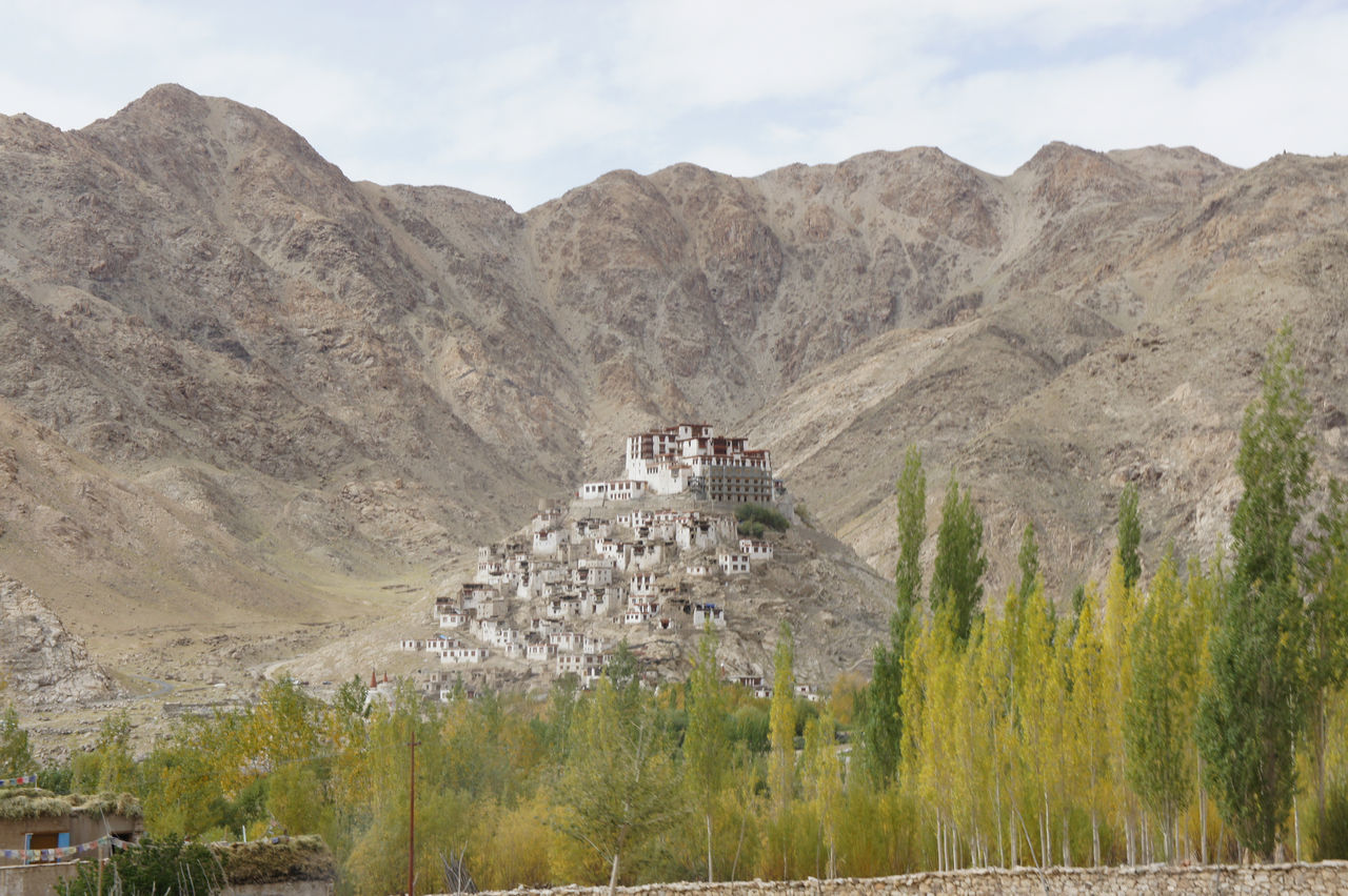monastery in the himalayas Architecture Beauty In Nature Buddhist, Buddisth, Monk, Rear, Relaxation, Sea, Seaside, View, Water Day I Landscape Mountain Mountain Range Nature No People Outdoors Quarry Tree