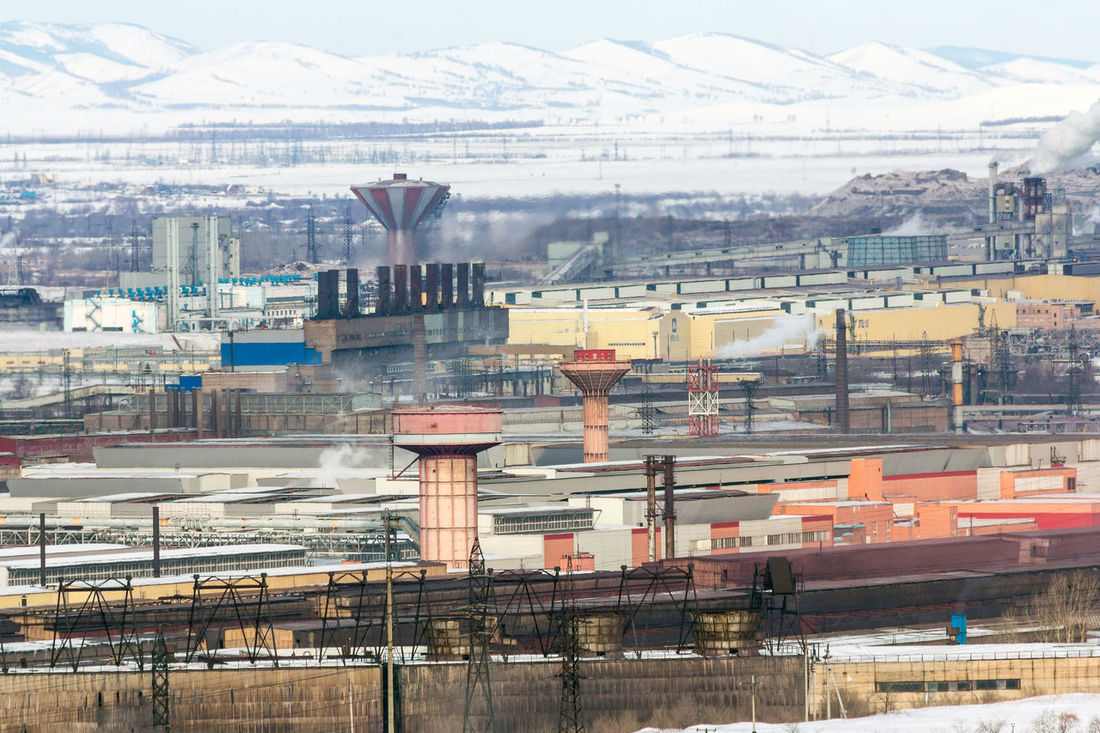 Industrialization Metallurgical Production The Mountains Architecture Building Exterior City High Angle View No People Outdoors Urban Skyline