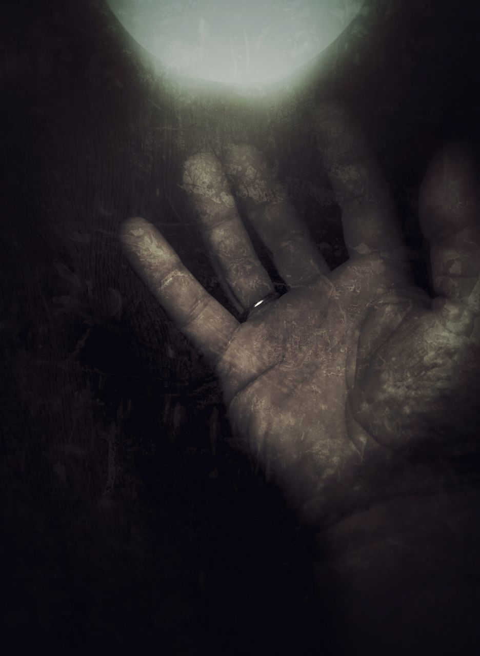 human hand, human finger, human body part, one person, real people, night, close-up, indoors, palm, men, one man only, people